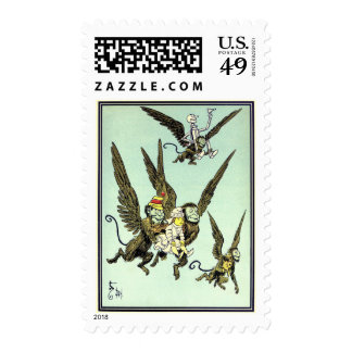 Vintage Wizard of Oz, Flying Monkeys with Dorothy Postage