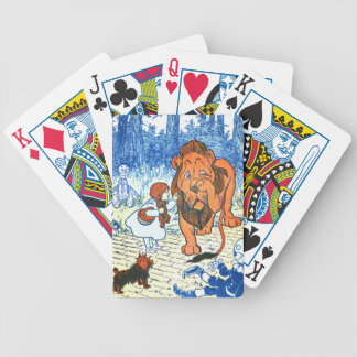 Vintage Wizard of Oz Illustration - Dorothy & Lion Bicycle Playing Cards