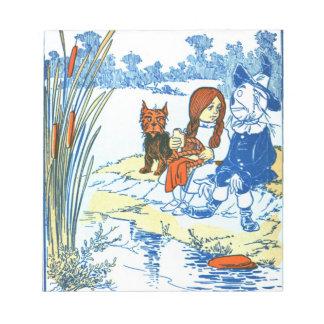 Vintage Wizard of Oz Illustration - Pond Notepad
