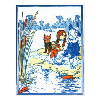 Vintage Wizard of Oz Illustration - Pond Postcard