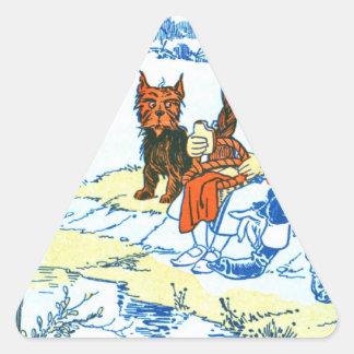 Vintage Wizard of Oz Illustration - Pond Triangle Stickers