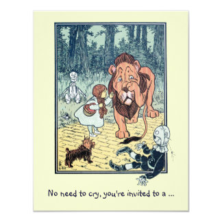 Vintage Wizard of Oz, Lion Boy Birthday Party Card