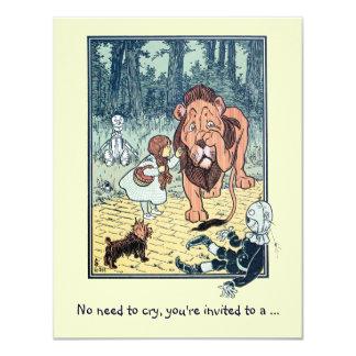 Vintage Wizard of Oz, Lion Boy Birthday Party Card