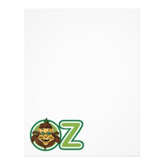 Vintage Wizard of Oz, Lion in the Letter O Letterhead