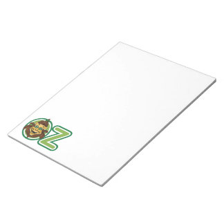 Vintage Wizard of Oz, Lion in the Letter O Notepad