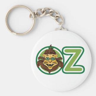 Vintage Wizard of Oz, Lion Inside Letter O Basic Round Button Keychain