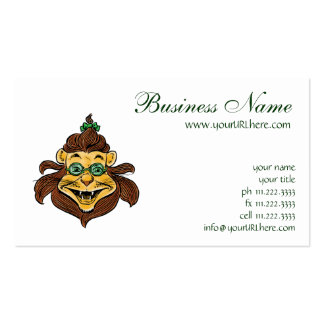 Vintage Wizard of Oz, Lion Wearing Green Glasses Business Card