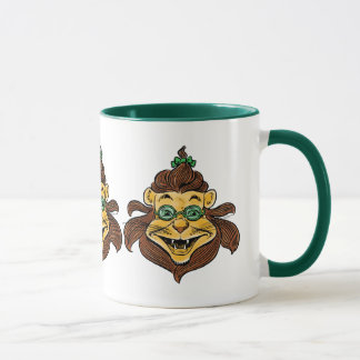 Vintage Wizard of Oz, Lion Wearing Green Glasses Mug