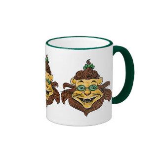 Vintage Wizard of Oz, Lion Wearing Green Glasses Ringer Mug