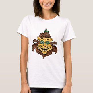 Vintage Wizard of Oz, Lion Wearing Green Glasses T-Shirt