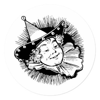 Vintage Wizard of Oz, Munchkin Girl Birthday Party Card