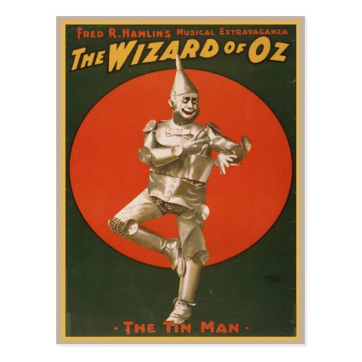 Vintage Wizard Of Oz Poster Post Card