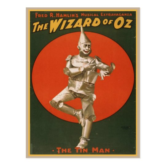 Vintage Wizard Of Oz Poster Postcard