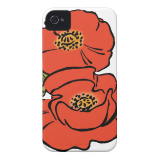 Vintage Wizard of Oz Red Poppies in Bloom Spring iPhone 4 Case-Mate Case