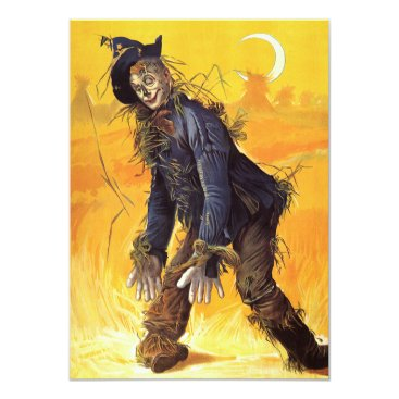 Halloween Themed Vintage Wizard of Oz Scarecrow Card