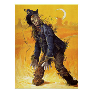 Vintage Wizard of Oz Scarecrow Poster
