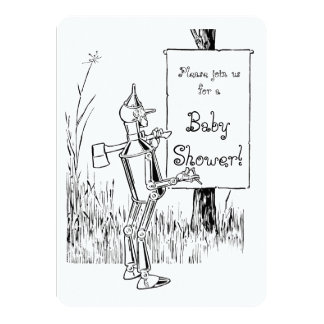 Vintage Wizard of Oz Tinman Baby Shower Card