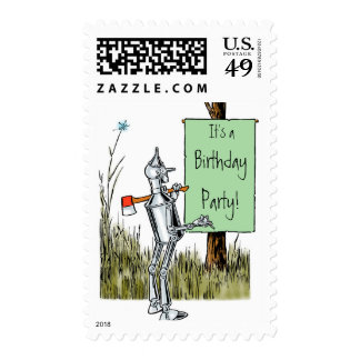 Vintage Wizard of Oz, Tinman Birthday Party! Postage