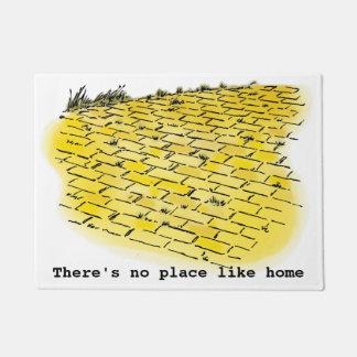 Vintage Wizard of Oz Yellow Brick Road by Denslow Doormat