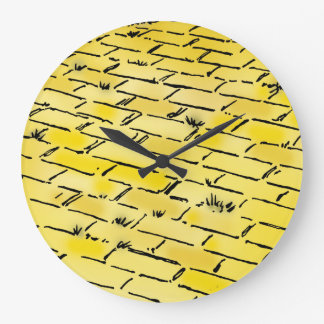 Vintage Wizard of Oz Yellow Brick Road by Denslow Large Clock