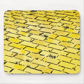 Vintage Wizard of Oz Yellow Brick Road by Denslow Mouse Pad