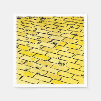 Vintage Wizard of Oz Yellow Brick Road by Denslow Paper Napkin