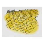 Vintage Wizard of Oz Yellow Brick Road by Denslow Poster
