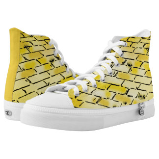Vintage Wizard of Oz Yellow Brick Road by Denslow Printed Shoes