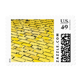 Vintage Wizard of Oz Yellow Brick Road by Denslow Stamp