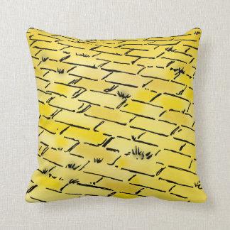 Vintage Wizard of Oz Yellow Brick Road by Denslow Throw Pillow
