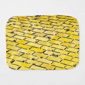 Vintage Wizard of Oz Yellow Brick Road Baby Burp Cloths