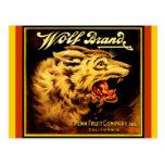 Vintage Wolf Brand Cali citrus crate Postcards