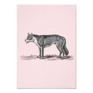 Vintage Wolf Illustration -1800's Wolves Template Card