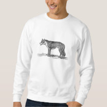 Vintage Wolf Illustration - 1800's Wolves Template Sweatshirt