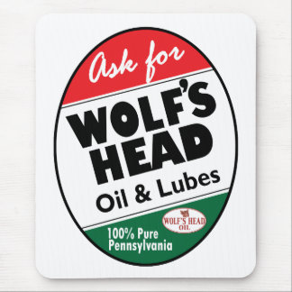 Vintage Wolfs Head sign Mouse Pad