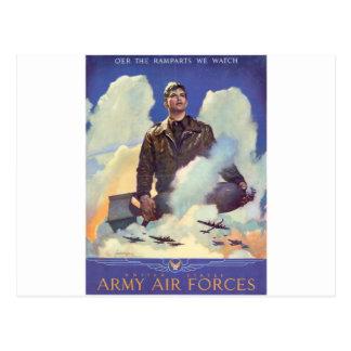 Vintage Wolrd War II Poster (Air Force) Postcard