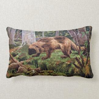 Vintage Wolverine Illustration Lumbar Pillow