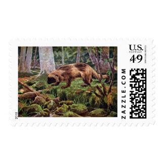 Vintage Wolverine Illustration Postage Stamp