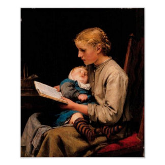 Vintage Woman and Child Poster