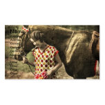 Vintage Woman and Horse Business Card Template