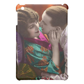 vintage woman and man in romantic embrace iPad mini covers