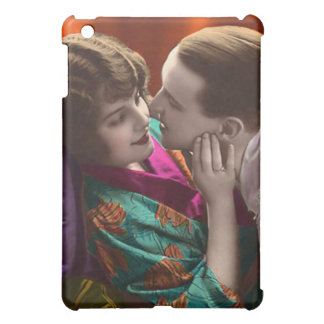 vintage woman and man in romantic embrace iPad mini cover