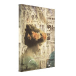Vintage Woman Art Canvas She Longs For The Day Canvas Prints