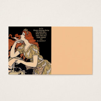 Vintage Woman at Her Writing Desk Business Card