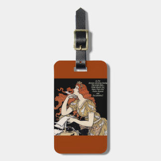 Vintage Woman at Her Writing Desk Tags For Luggage