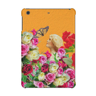 Vintage Woman Butterfly Floral Collage iPad Mini Covers
