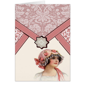 Vintage Woman Card