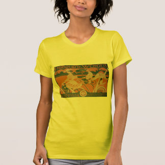 Vintage Woman Cycling with Cupid T-Shirt
