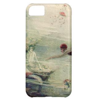 Vintage Woman Dive Underwater Mermaids Ocean Water iPhone 5C Cases