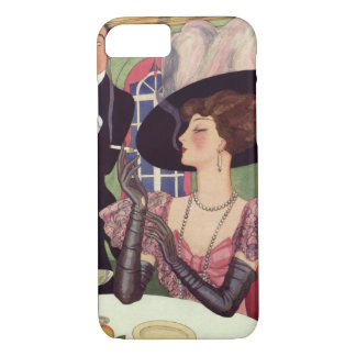 Vintage Woman Drinking Champagne Smoking Cigarette iPhone 8/7 Case